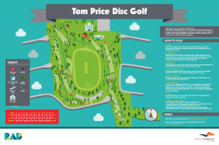 An image showing tom price disc golf park map