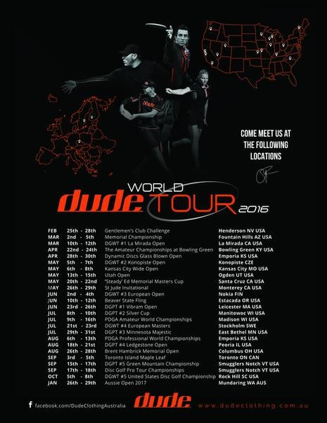 DUDE WORLD TOUR 2016