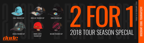 Dude Hats 2 For 1 Special 2018 Disc golf Season