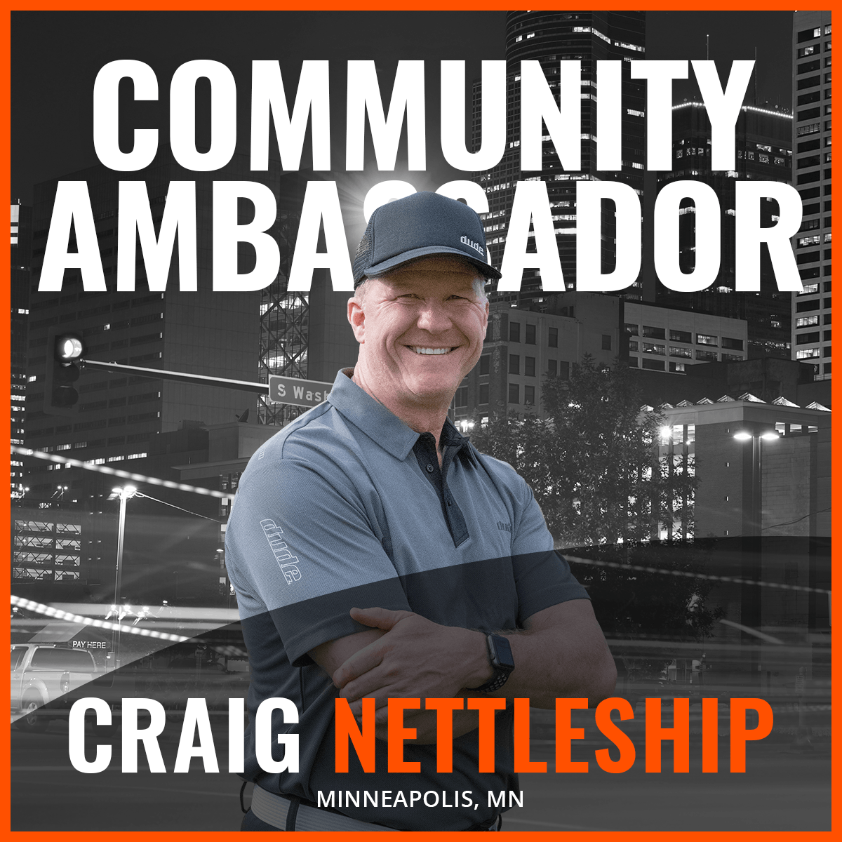 An Image of Craig Nettleship Dude Clothing Community Ambassador
