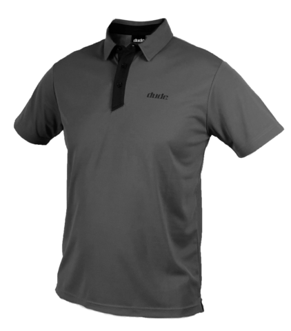 Dude pro polo grey black
