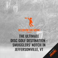 An image of Dude Clothing Discover the scene smugglers notch disc golf course