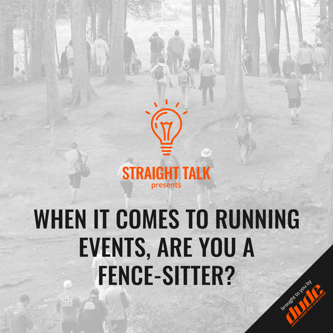 An image of Dude Clothing Straight Talk When It Comes To Running Events, Are You A Fence-Sitter?