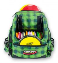 An image of organized disc golf bag