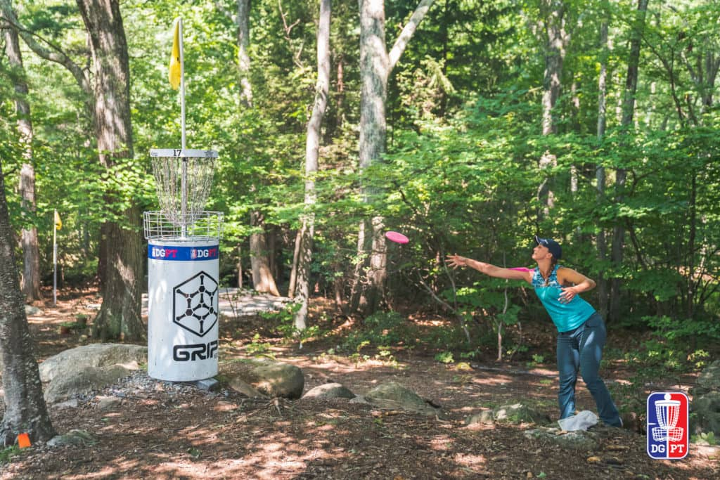 An mage of Dude Clothing Tournament Coverage MVP Open Maple Hill Disc Golf Course