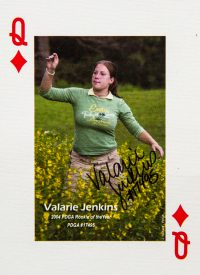 Dude Clothing Playing Cards Queen of Diamonds Valarie Jenkins
