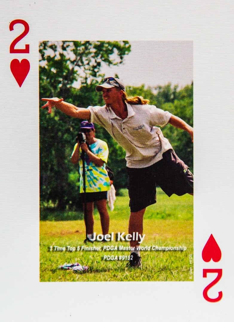 Dude Clothing Playing Cards Two of Hearts Joel Kelly