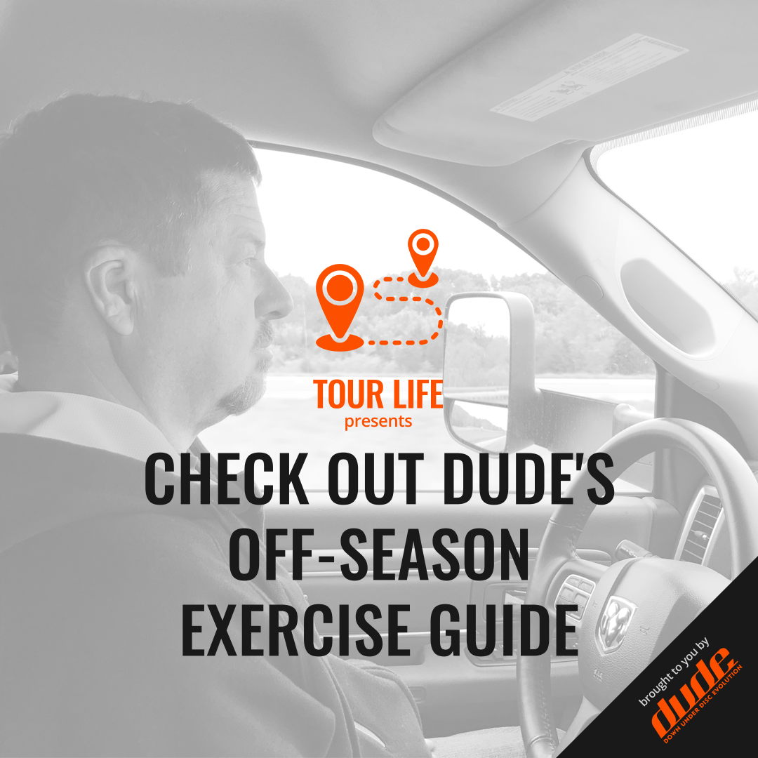 An image of Dude Clothing Tour Life Check out Dude's off-season exercise guide