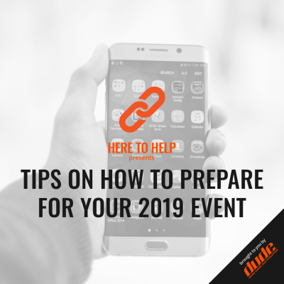 Dude Clothing Here to Help Tips on how to prepare for your 2019 event