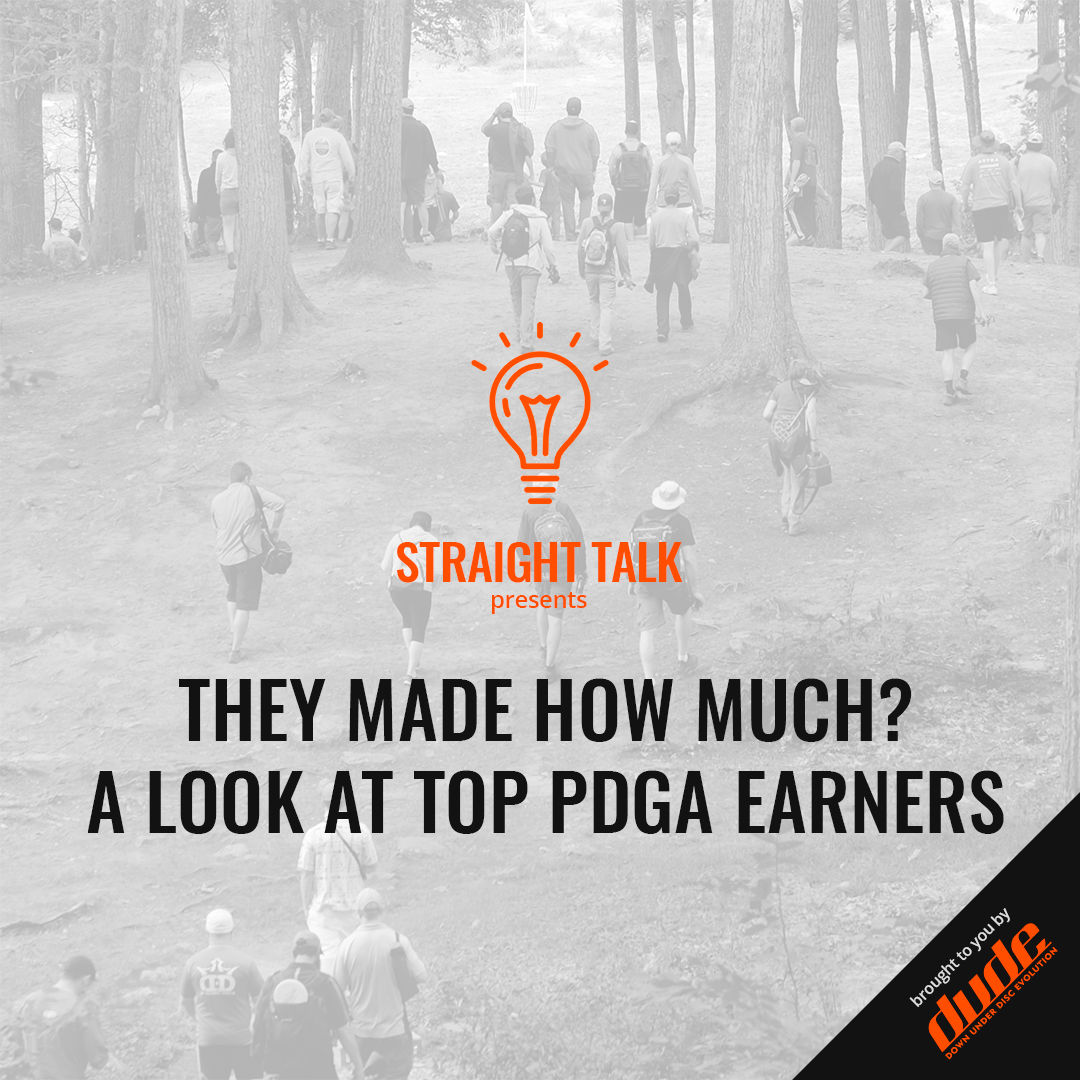 An image of Dude Clothing Straight Talk PDGA Top Earnings 2018