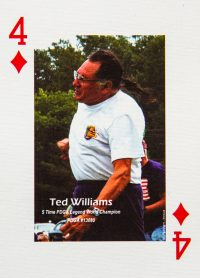 Dude Clothing Playing Cards Four of Diamonds Ted Williams