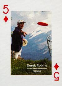 Dude Clothing Playing Cards Five of Diamonds Derek Robins