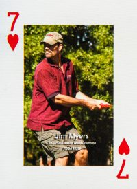 Dude Clothing Playing Cards Seven of Hearts Jim Myers