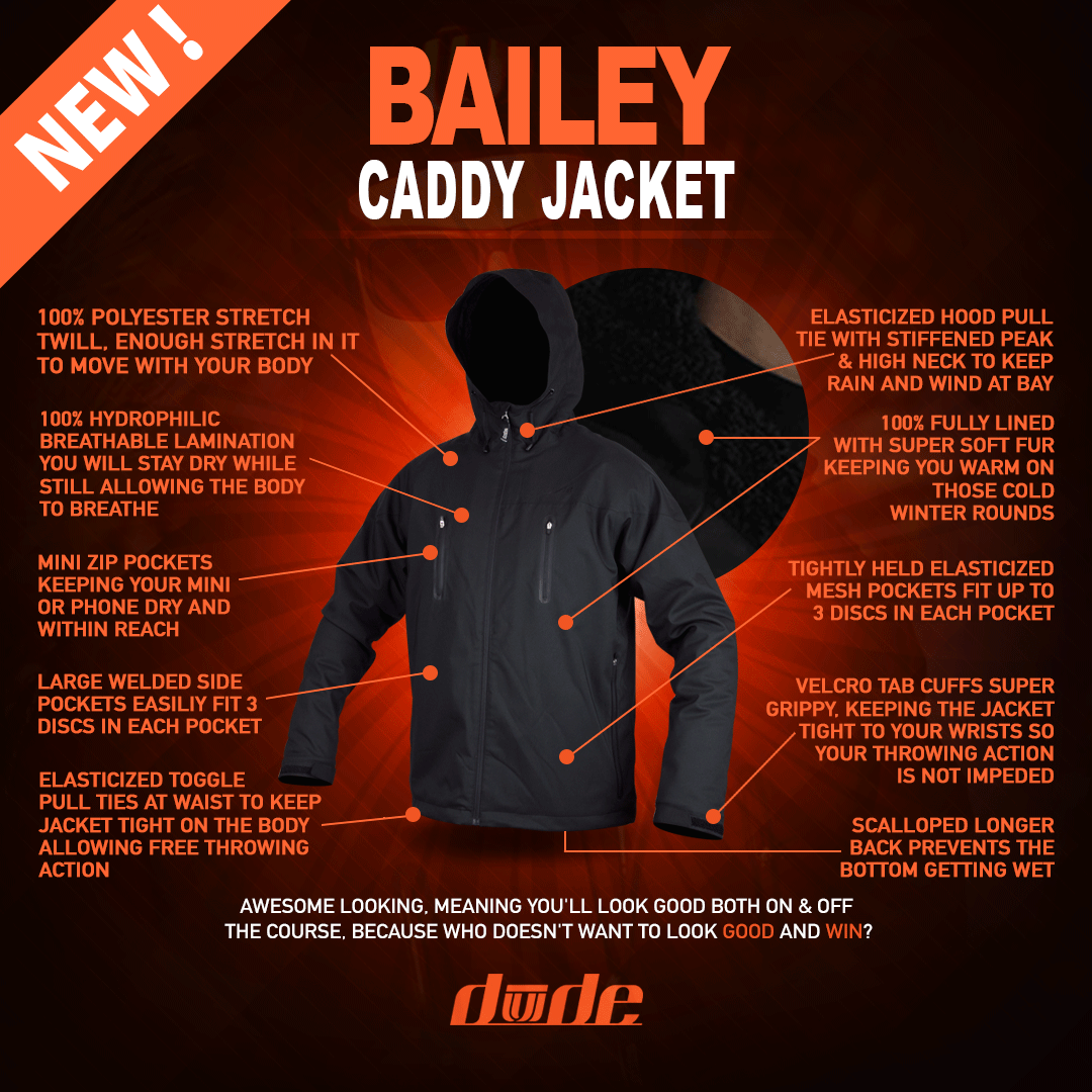 DUDE Mens Bailey Caddy Jacket