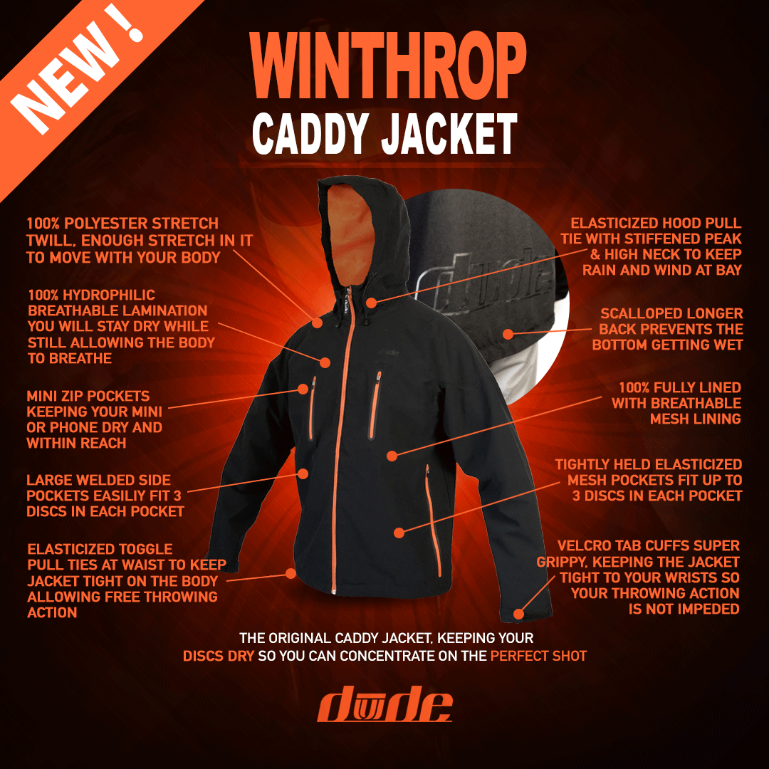 DUDE Mens Winthrop Caddy Jacket